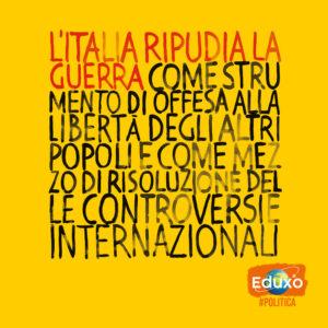 Read more about the article L'Italia ripudia la guerra