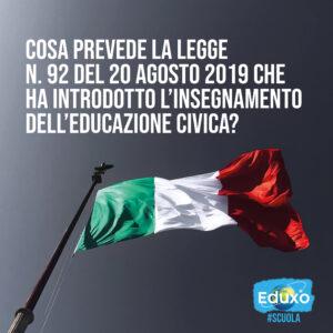 Read more about the article Educazione civica obbligatoria a scuola da quest'anno scolastico (2020-2021)