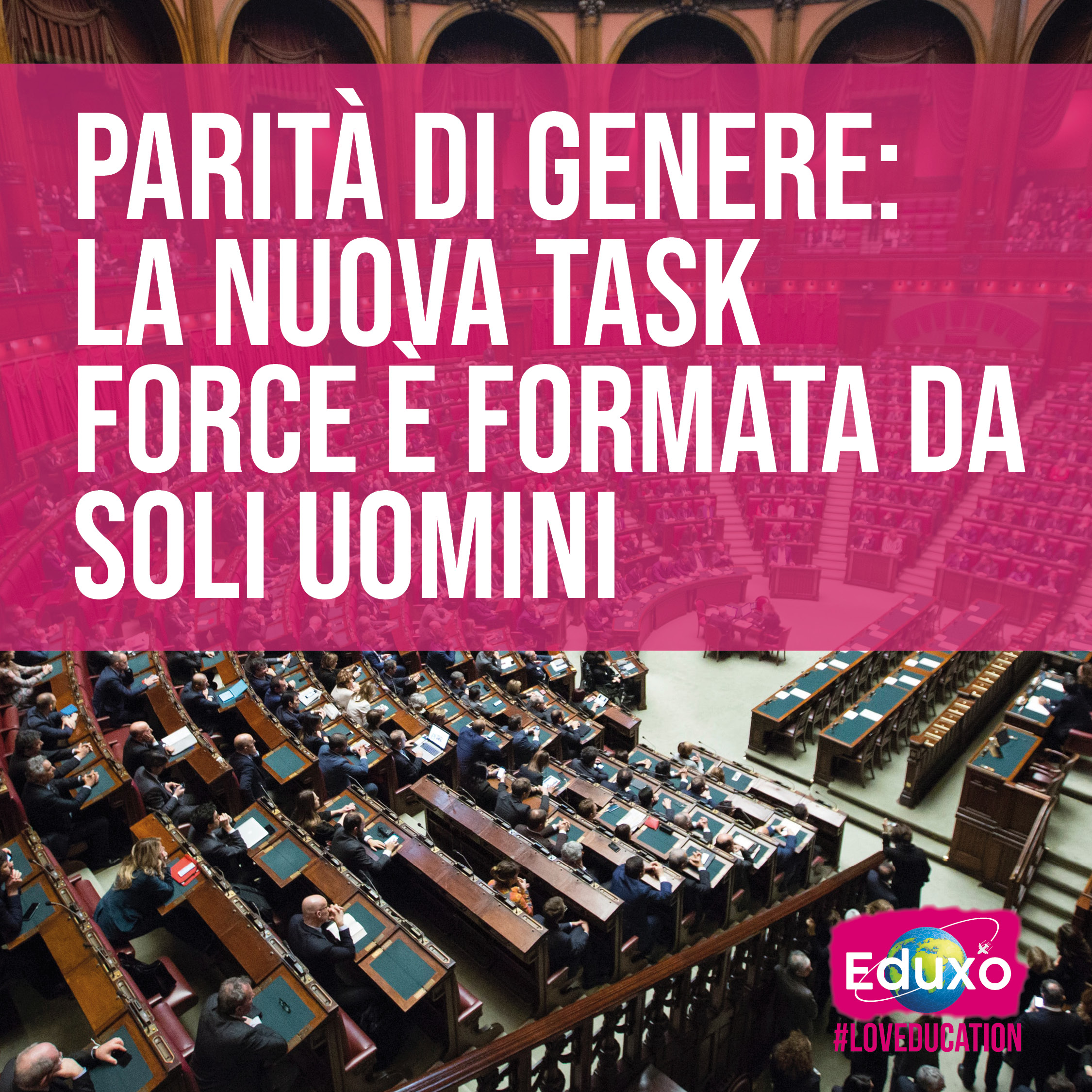 You are currently viewing PARITÀ' DI GENERE- La nuova task force del governo è formata solo da uomini